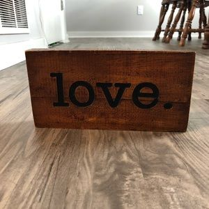 Love stained decoration block